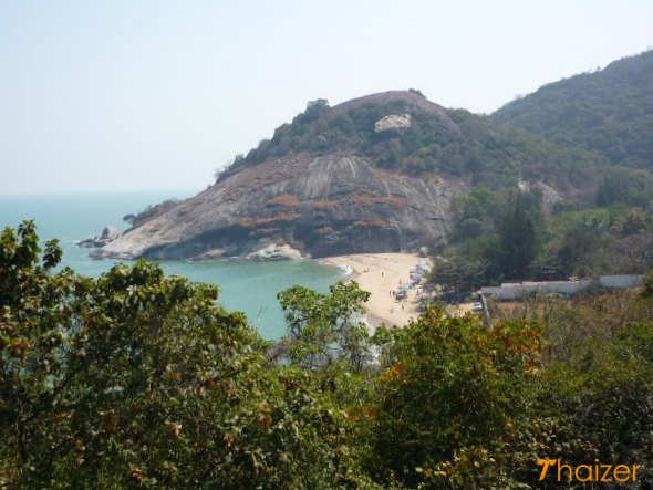 View from Khao Tao hill looking down on Hat Sai Noi beach