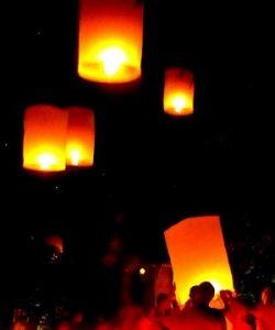 Mae Jo sky lantern release