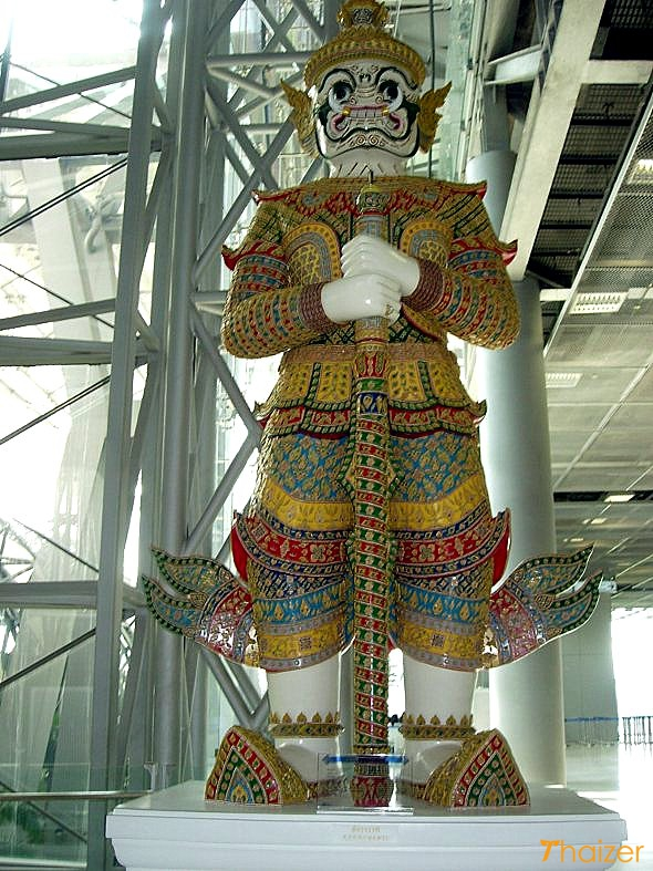 Yaksha giant at Bangkok Suvarnabhumi airport