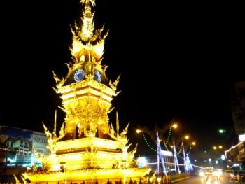 Chiang Rai clocktower at night
