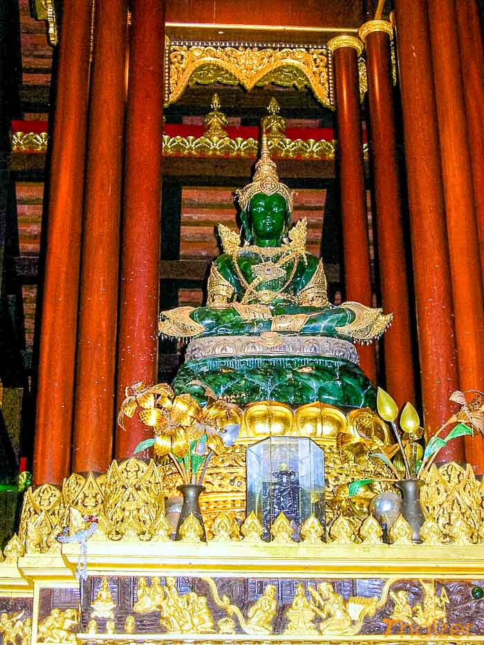 Jade Buddha image at Wat Phra Kaeo, Chiang Rai