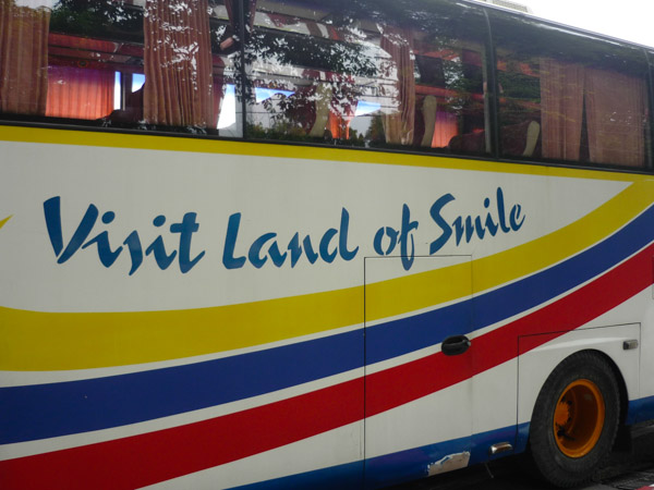 Bus parked up near the Grand Palace, Bangkok