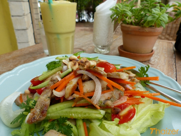 Yam gai (Thai chicken salad)