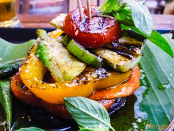 Mixolgy grilled pesto salad