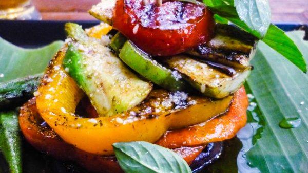 Mixolgy grilled pesto salad