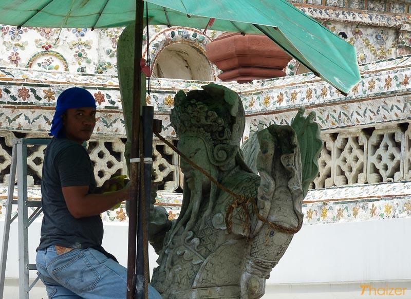 renovation work at Wat Arun, Bangkok