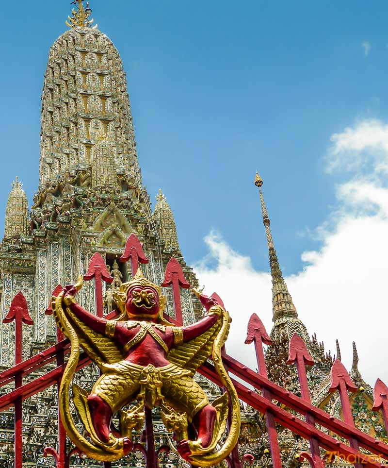 Garuda on the gates at Wat Arun, Bangkok