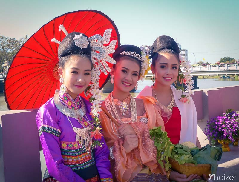 Ladies at the Chiang Mai Flower Festival