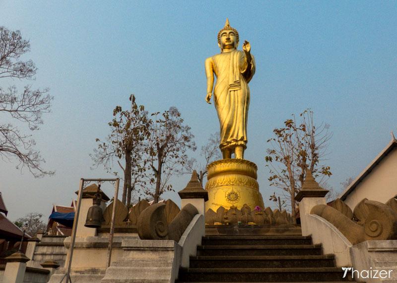 walking Buddha image at Wat Phra That Khao Noi, Nan