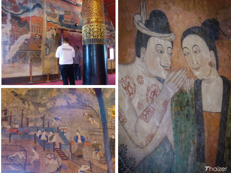 murals at Wat Phumin, Nan