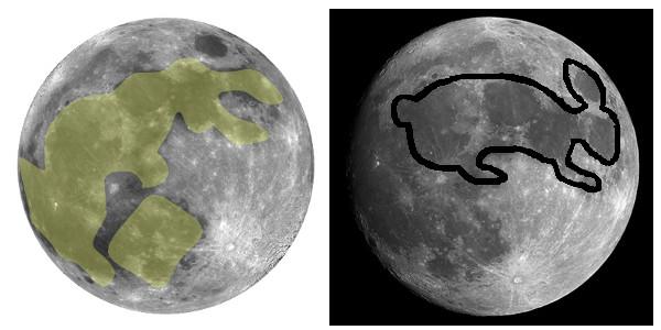 The moon rabbit in Thailand