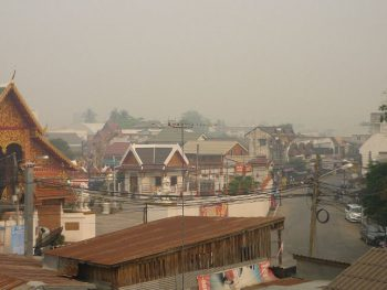 haze and smog in Chiang Rai, north Thailand