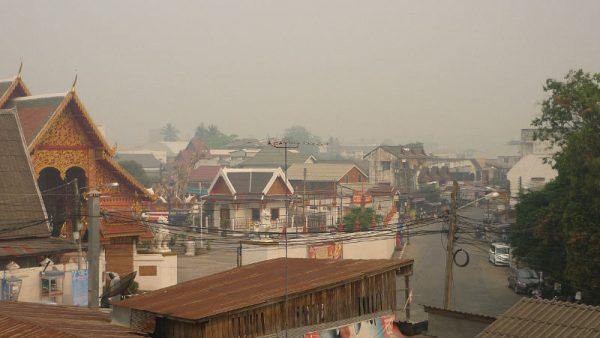 haze and smog in Chiang Rai, north Thailand