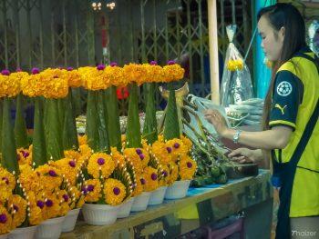 Pak Klong Talad Flower and vegetable market, Bangkok