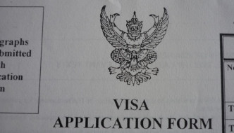 Thailand visa application form