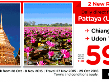 Air Asia flights from Pattaya U-Tapao airport