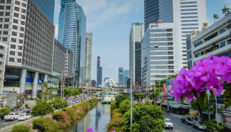 exploring Sathorn district, Bangkok
