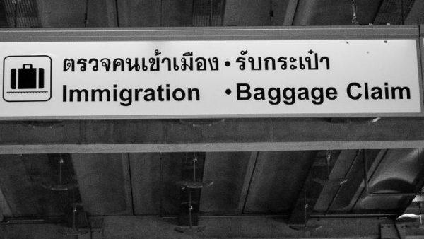 Bangkok airport immigration