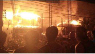 Fire Hits Phi Phi Island